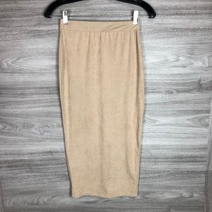 Windsor Calf Length Suede Skirt Size Small